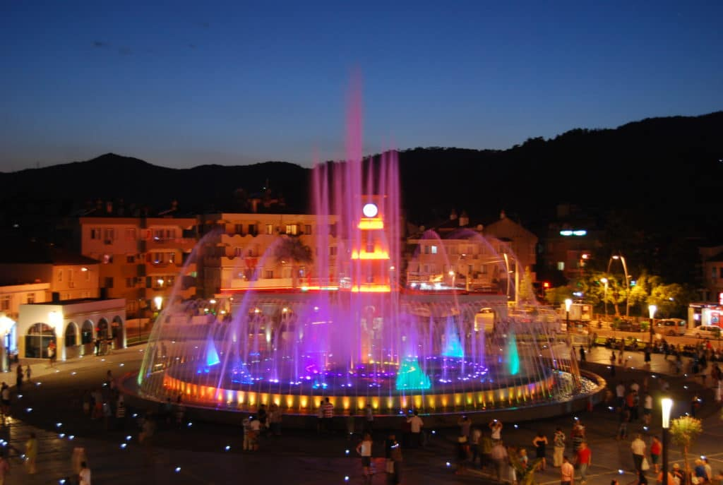 Musical Fountain, Marmaris Turkey