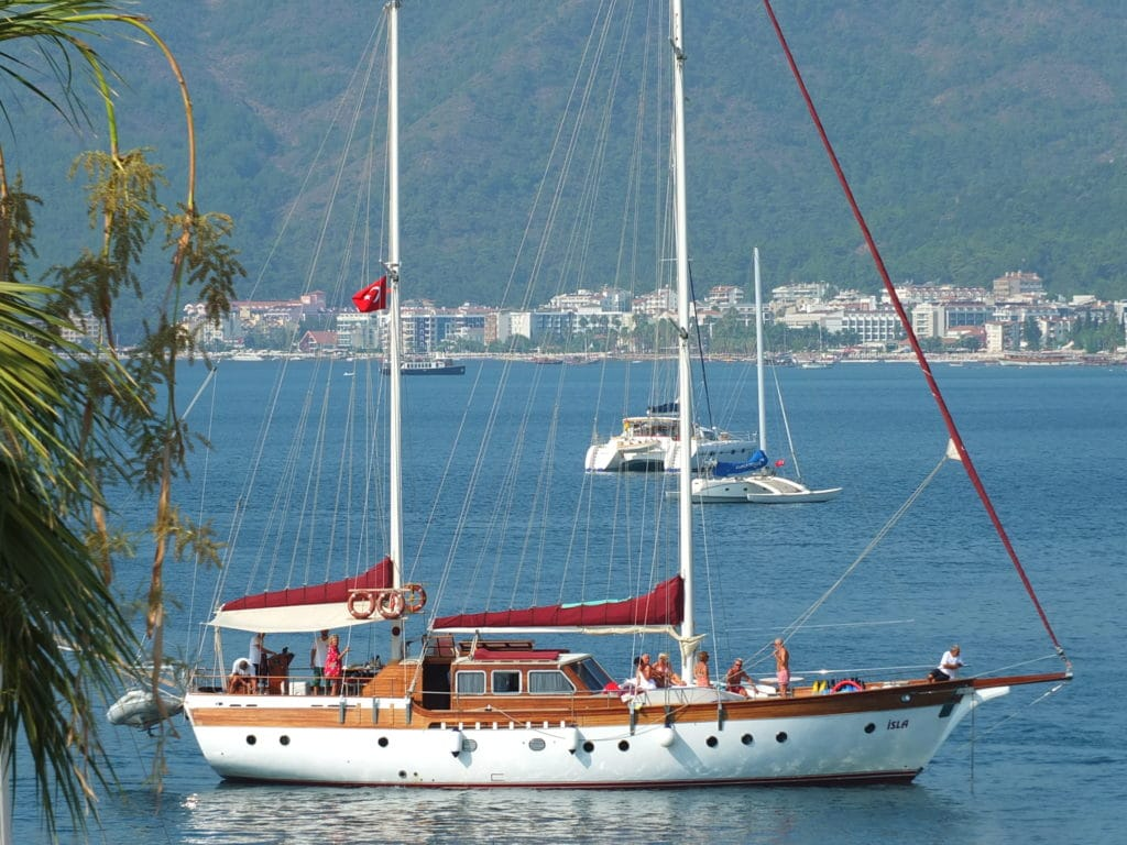 Marmaris yacht charter holidays on board a gulet from the harbor