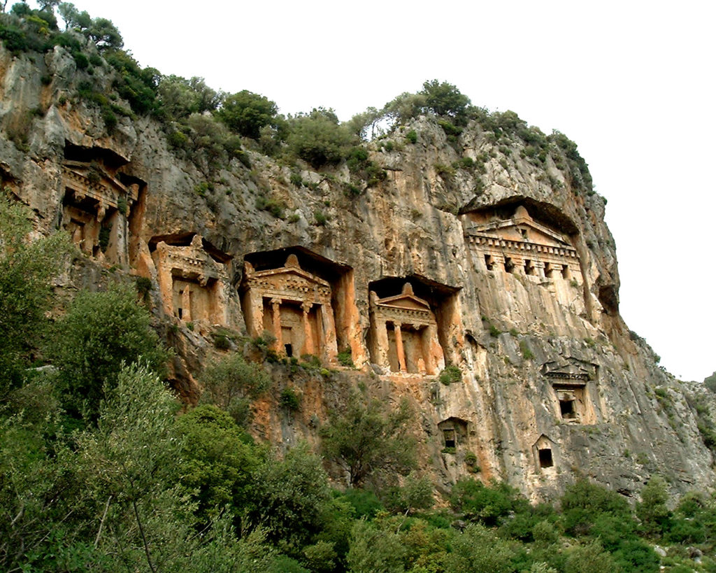 Lycian King Rock Tombs Turkey