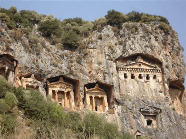 Lycian King Rock Tombs, Dalyan Turkey
