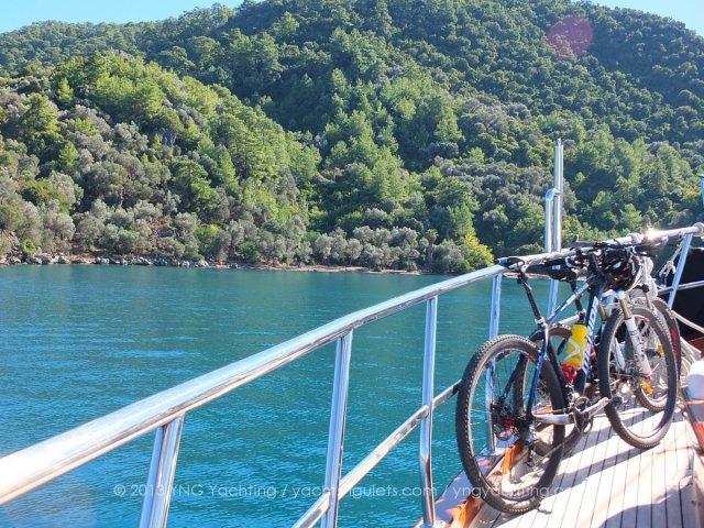 Bikes on board gulet