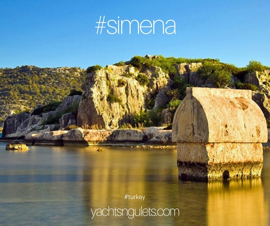 #simena #turkey Sunken city of Simena, Lycian ruins