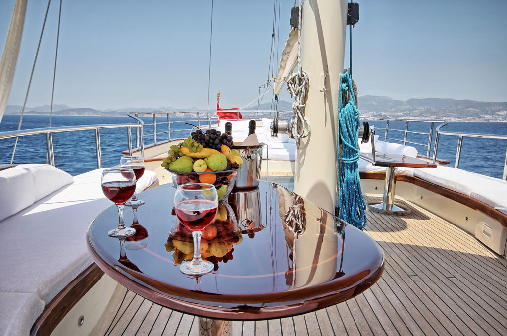 Luxury yacht charter routes