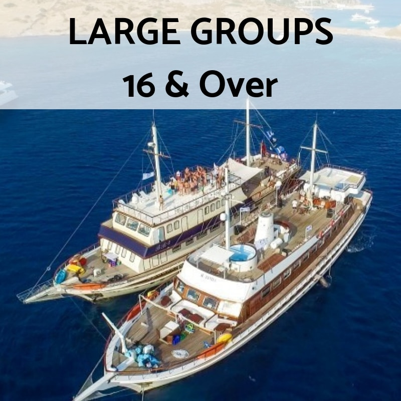 large group yacht charter