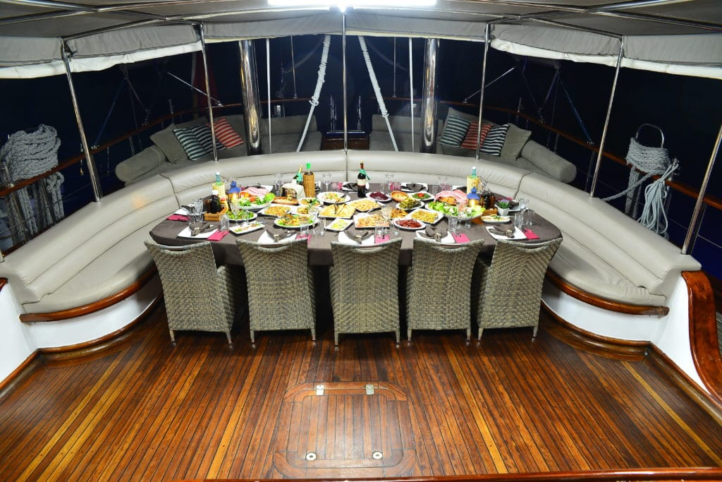 dining and wining on board - k mehmet Bugra