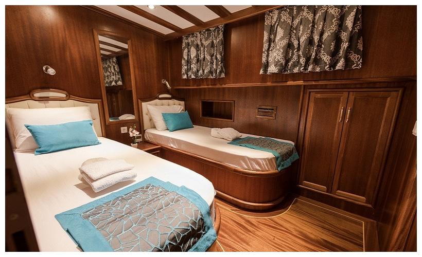Koray Ege gulet cabins